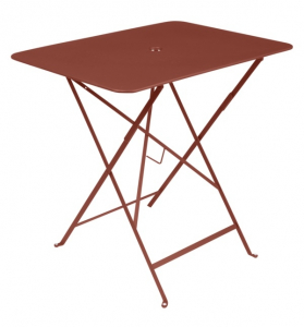 Table pliante Bistro - Fermob - 77 x 57 cm - Ocre Rouge