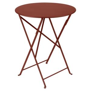 Table pliante Bistro - Fermob - Ø 60 cm - Ocre Rouge