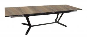 Table Extensible Vita - Proloisirs - 180/230/280 - Alunimium/HPL - Gris/Bois