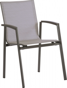 Fauteuil Aluminium Empilable Top - Stern - Anthracite/Argent