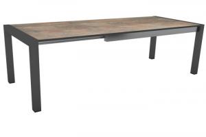Table Extensible - Stern - 174/214/254 -  Aluminium/HPL - Anthracite/Ciment