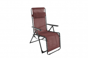 Fauteuil Relax Luno - MWH - Anthracite/Rouge chiné