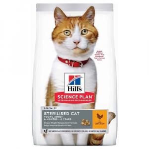 Croquettes feline young adult sterilised - Science Plan - Poulet - Pour chats stérilisés - Sac de 3 Kg
