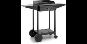 Chariot en acier noir pour plancha Origin 45 - Tablettes rabattables - L 68,2 xl 55,8 x H 99,5 cm