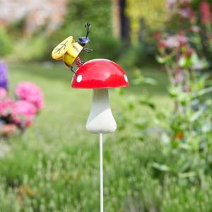 Tige déco champignon et insecte - 3 modèles au choix