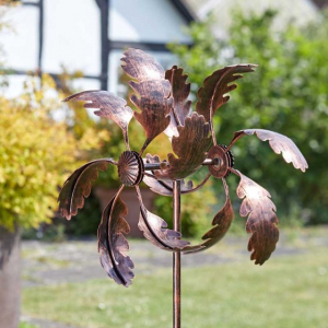 Eolienne feuilles - Bronze - 120 cm