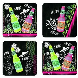 Set 4 sous-verres Tequila