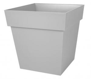 Pot Toscane carré 39X39 cm - Gris béton