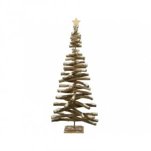 Sapin en pin sur support - Brun blanchi- 85 cm