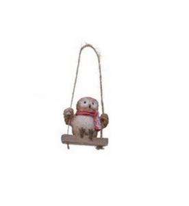 Suspension hibou sur sa balançoire - 5 cm