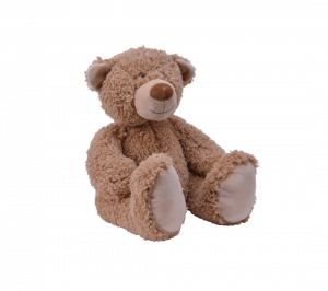 Ours en peluche - Assis - Naturel - 20 cm