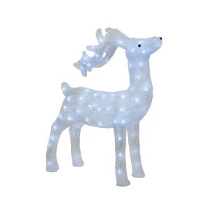 Renne - Clignotant - LED Blanc chaud - Extérieur - 23x52x73 cm