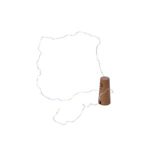 Lumière pour intérieur bouteille - LED - Argent/Blanc chaud - 75 cm - 8 L