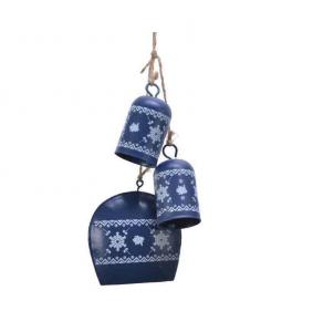 Suspension 3 cloches - Bleu nuit - Métal - 25 cm