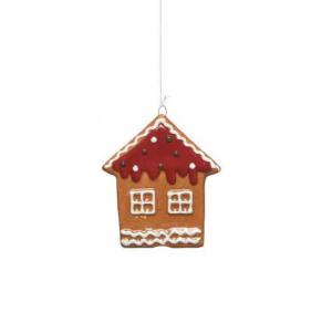 Suspension maison en pain d'épices -7 X 8 cm