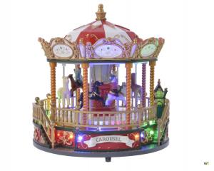 Manège fête - LED - Thème carnaval d'hiver avec mouvement et musique
