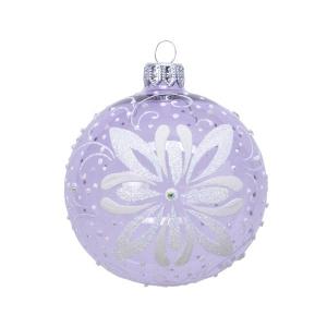 Boule fleur - Verre - Lilas - Ø8 cm