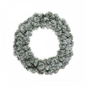 Couronne imperial - Enneigée - 110 branches - Vert/blanc - Artificiel - Ø 50 cm