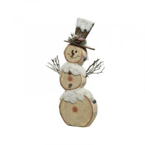 Bonhomme de neige en bois - 57x29 cm