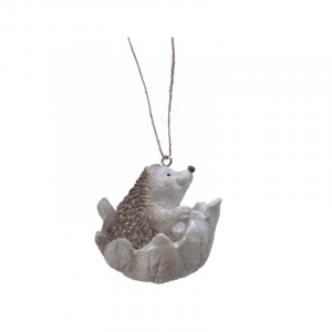 Suspension hérisson - Blanc - 6 cm