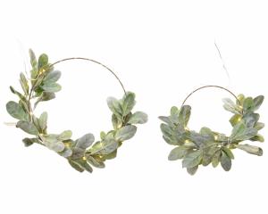 Lot de 2 anneaux feuilles - Micro-Led - Ø 45 et 35 cm