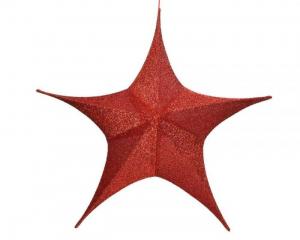 Suspension étoile - Rouge - Ø 135 cm