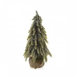 Mini sapin enneigé - Vert/blanc - 35 cm