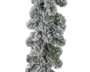 Guirlande imperial - Enneigée - 180 branches - Vert/blanc - Artificiel - 2,70 cm