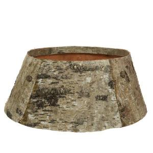 Cercle écorce de pin - Naturel/givré - Ø 58 cm