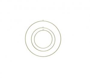 Lot de 3 cercles déco - Or - Fer - Ø 60/70/80 cm