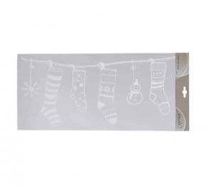 Stickers vitres chaussettes - 49 X 23 cm