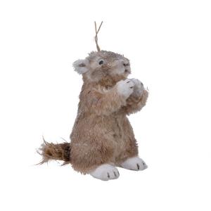 Marmotte - Peluche - Brun - Fourrure - 8x10x15 cm