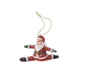 Suspension Père Noël en grand écart - 5X 7 cm
