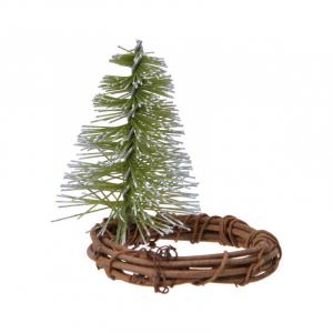 Rond serviette - Saule - Mini arbre - 6x8 cm
