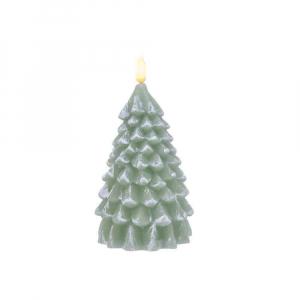 Bougie LED - Sapin - Vert - Ø 10 cm - 18 cm
