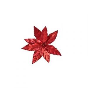 Poinsettia à clip irisé - 11 cm
