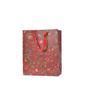 Sac cadeau - Rouge et motifs - 10 X 26 X 32 cm