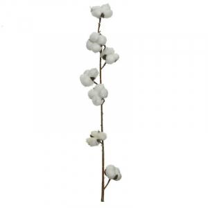 Branche plastique - Coton blanc - 100 cm