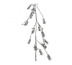 Guirlande de buis artificiel et perles - 130 cm