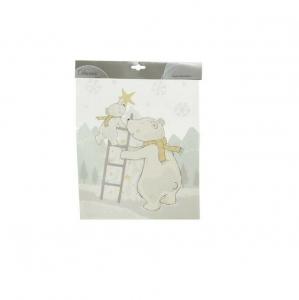 Stickers ours, ourson et étoile - 28,5 X  34,5 cm