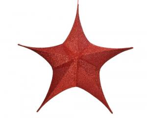 Suspension étoile - Rouge - Ø 80 cm