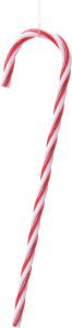 Sucre d'orge - Plastique - Rouge/blanc -  13 cm