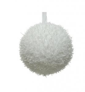 Boule de Noël -  Mousse - Blanc - Ø 10 c m
