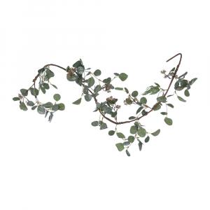 Guirlande d'eucalyptus - Artificiel - Pailleté - 150 cm