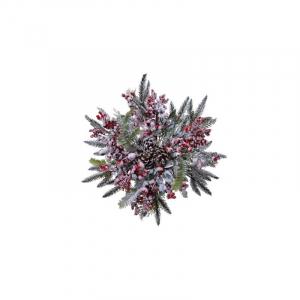 Etoile décorative - Baies rouges grivées - Vert - Ø 50 cm