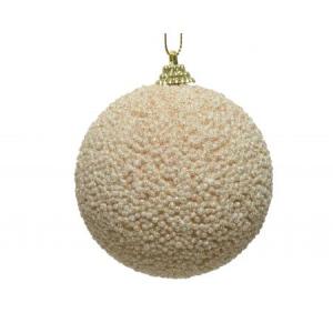 Boule de Noël -  Mousse - Perles paillettes - Ø 10 cm