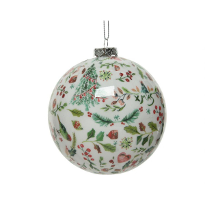 Boule de Noël -  Mousse - Blanc - Ø 8 cm