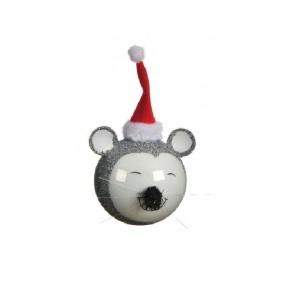 Boule souris - Argent - Ø8 cm