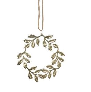 Couronne de feuilles - Or clair - Métal- Ø 9 cm