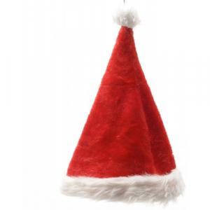 Bonnet père noël - Rouge/blanc - 100% polyester -30x44 cm
